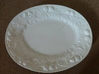 LARGE WHITE CHINA SERVING PLATE 20 inches