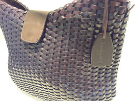 Russell and Bromley Brown Weave Leather Bag