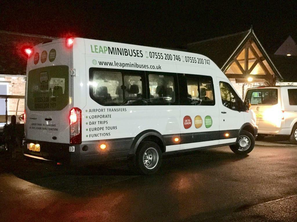 MINIBUS HIRE WITH DRIVERS - 16 SEATERS - QUICK QUOTES - CARD PAYMENTS ACCEPTED - UK & EUROPE COVERED