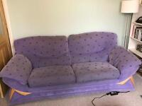 Lilac DFS 3 seater sofa for free