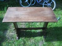 Small Solid Oak Refectory Style Side Table