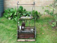 Vintage Atco Lawn Mower Kickstart Model Villiers Engine Good Project 17in Cut