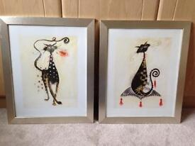 Two framed pictures 58cm x 48cm vgc