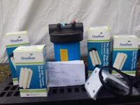 Water filter housing and ceramic cartridges