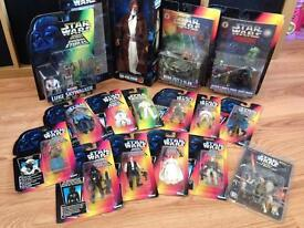 1995/96 Star Wars figures in boxes