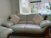 Lovely Leather 3 Piece Suite