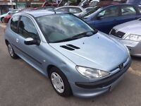 2001/51 PEUGEOT 206 1.1 LOOK,3 DOOR,SILVER,LONG MOT,DRIVES WELL,READY TO GO,
