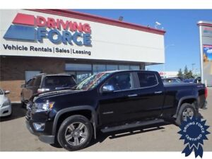 2015 Chevrolet Colorado 4WD LT, 6 Ft Box, Jet Black Leather Trim