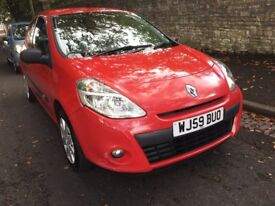 2009 Reg RENAULT CLIO 1.4 MANUAL , RED 12 MONTH M.O.T £850