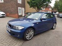57 plate BMW 118d M SPORT 118k miles, 2 keys, FSH, NON RUNNER, SPARES OR REPAIR, £1150