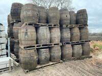 Reclaimed Oak Whiskey Barrels
