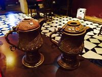 Traditional Kashmiri copper tea pot (Samovar), beautifully carved, rare pieces