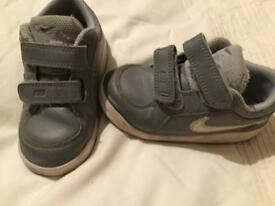 Childrens Grey Nike Trainers
