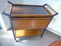 ECKO VINTAGE HEATED HOSTESS TROLLEY,GOOD CONDITION ,TOUGHENED GLASS TOP HEATED FOR SERVING DISHES.
