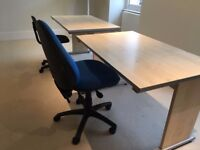 Office desks and chairs - 2 available