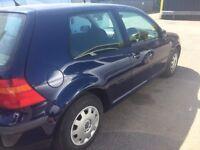 Spares or repair MK4 2002 Golf 1.4s 3door hatch, petrol.