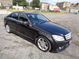 2008 MERCEDES BENZ C200 SPORT CDI AUTOMATIC 4 DOOR SALOON BLACK