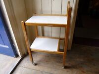 Two Shelf Beech Wood Trolley, Ideal for Upcycling