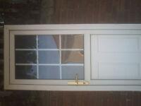 white upvc external door size H 78 in W 33 1/4 in