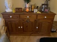 Reclaimed old pine sideboard dresser bottom