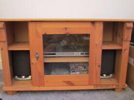 Pine TV Corner Unit in Excellent Condition
