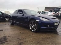 2004 1.6 Petrol Mazda RX-8, Breaking for parts only. Postage Nationwide