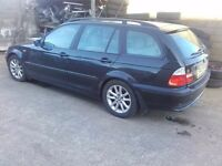 2003 BMW 3 series 320d E46 150hp M47TUD20 Touring Estate BREAKING FOR PARTS SPARES Black