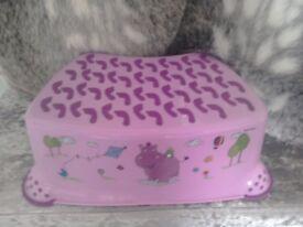 Pink step stool