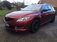 2008(58) MAZDA 6 ESTATE 2.0TS PETROL,NEW SHAPE,MOT 27-04-2017,CRUISE CONTROL,ALLOYS,BOSE 6CD CHANGER