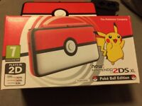 new special edition Nintendo 2ds XL plus 2 mario games and accessories