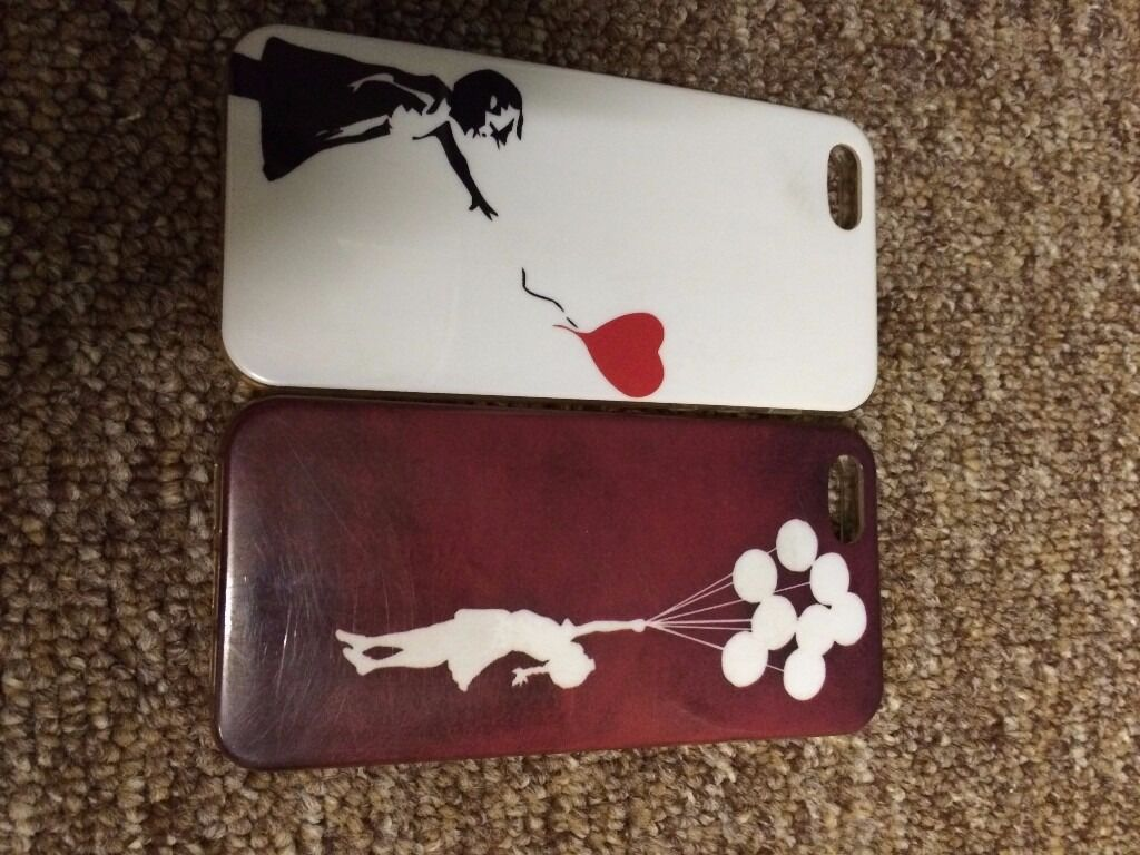iPhone 5, 5S 2 x Banksy Balloon Girls Coversin Brandon, SuffolkGumtree - iPhone 5, 5S 2 x Banksy Balloon Girls Covers iPhone 5, 5S 2 x Banksy Balloon Girls Covers
