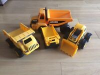 Set of four Caterpillar/JCB trucks/Diggers VGC