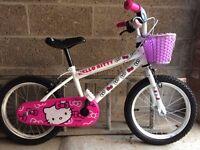 Girls Hello Kitty 16'' BMX Bike- Built.