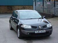2007 Renault Megane 1.5 dCi Expression 5door diesel black long MOT 2XKEYS £30 ROAD TAX
