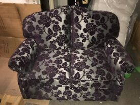 2 seater sofa with matching rise and recline chair with built in masssge in the chair