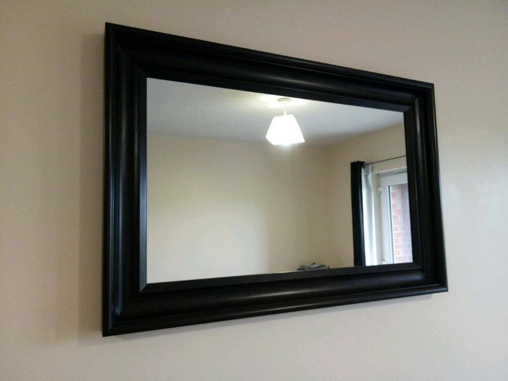 Ikea Hemnes Large Brown Black Mirror
