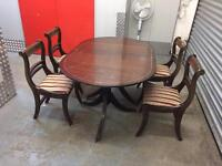Solid vintage table and chairs, Free delivery