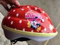 Red Minnie Mouse helmet- never worn