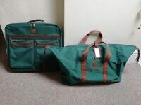 Pierre Cardin Travel Suitcase & Ralph Lauren Travel Bag, Green & Tan (New & Unused)