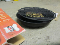 Small cast iron charcoal barbecue