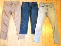 Biba, Tommy Hilfiger 3 pairs of jeans £10 each size S (10)