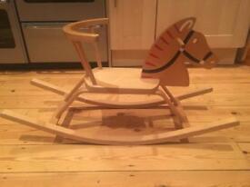 Children's wooden rocking horse chair