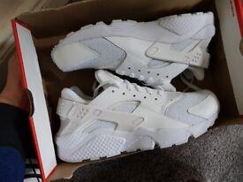 Nike hurache all white 100%genuine mens uk 11