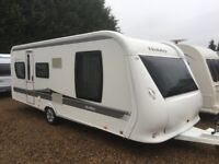 Hobby Caravan 575 Vip Collection (2010) Single Axle Island Bed. Like Tabbert/Fendt