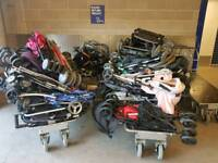 Job lot of 10 buggies & Pushchairs ..ideal for ebayer or trader