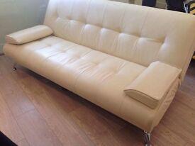 Cream sofa-bed for sale!
