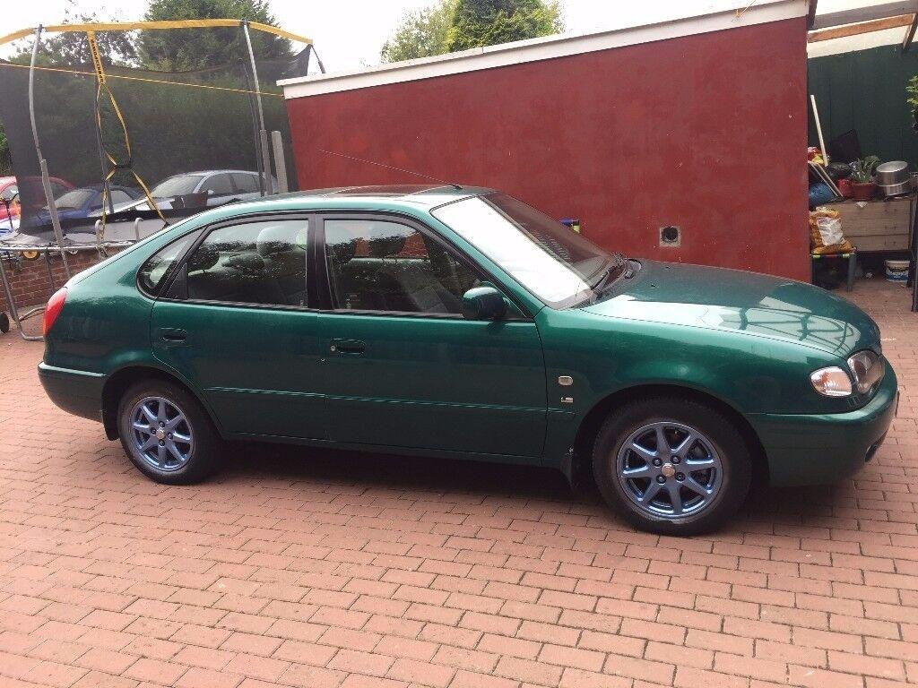 2000 toyota corolla green 5 door 1.6 auto petrol
