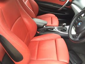 BMW 1-Series coupe red leather m sport