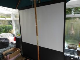 Sapphire 80' Portable Pull-up Projector Screen