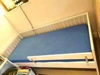 Ikea Children's cot bed, guard rail. Mattress & Sheet